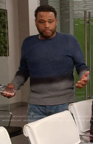 Andre's ombre sweater on Black-ish