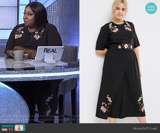 Tea Jumpsuit with Embroidery by Asos worn by Loni Love  on The Real