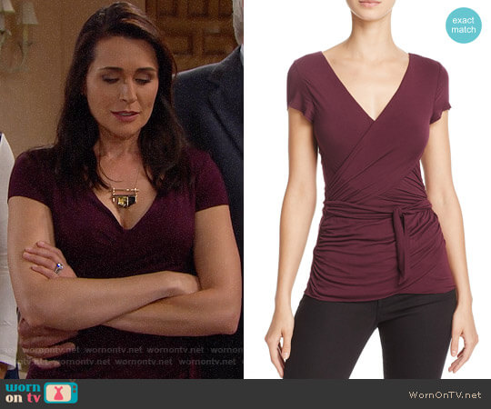 Bailey 44 Entrechat Top worn by Rena Sofer on The Bold & the Beautiful
