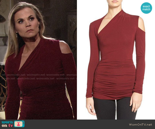 Bailey 44 'Expressionist' Cutout Long Sleeve Top worn by Gina Tognoni on The Young & the Restless