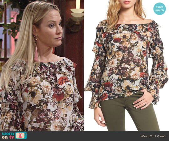 Bailey 44 Once Upon a Time Blouse worn by Sharon Case on The Young & the Restless