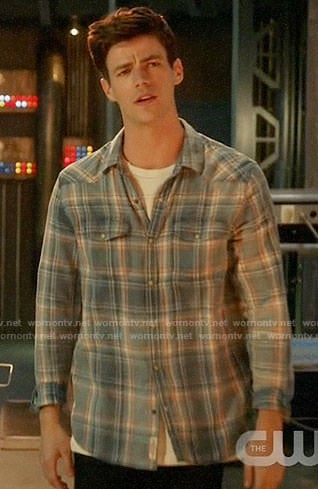Barry's blue plaid shirt on The Flash
