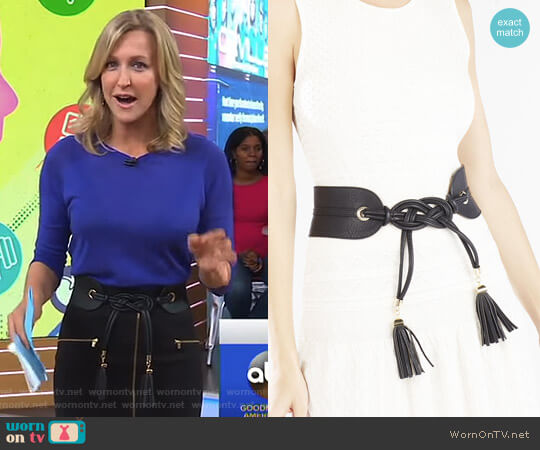 Tie Tassel Belt by Bcbgmaxazria worn by Lara Spencer on Good Morning America