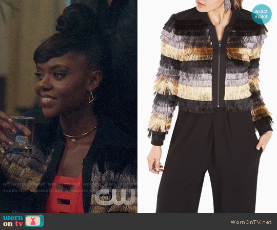 Bcbgmaxazria Darryn Jacket worn by Ashleigh Murray on Riverdale