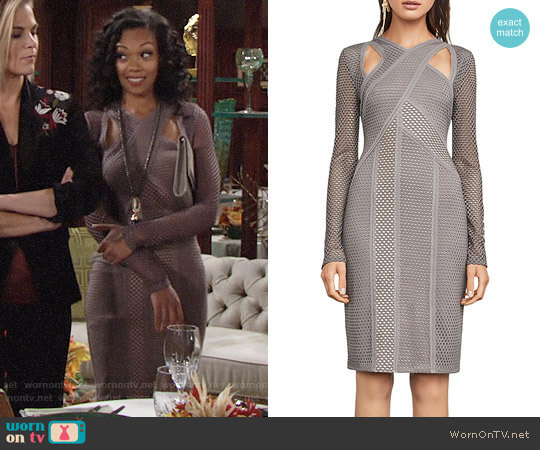 Bcbgmaxazria Jaylynn Dress worn by Mishael Morgan on The Young & the Restless