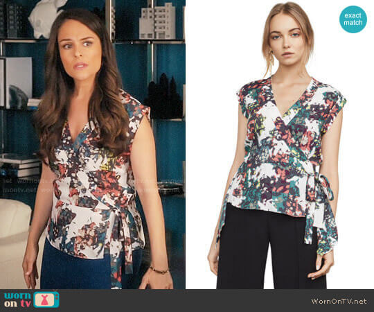 Bcbgmaxazria Sofi Top worn by Luisa Alver (Yara Martinez) on Jane the Virgin