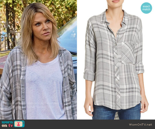 Bella Dahl Plaid Drop-Shoulder Shirt worn by Kaitlin Olson on The Mick