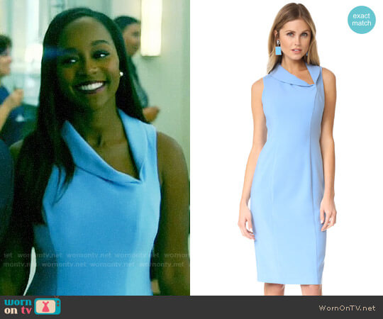 Black Halo Blaze Dress worn by Michaela Pratt (Aja Naomi King) on HTGAWM