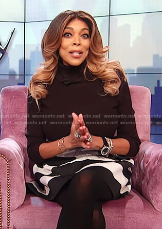 Wendy's black long sleeved turtle neck top on The Wendy Williams Show