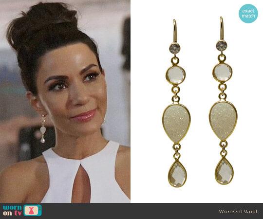 Brooklyn Designs Cora Earrings worn by Marisol Nichols on Riverdale