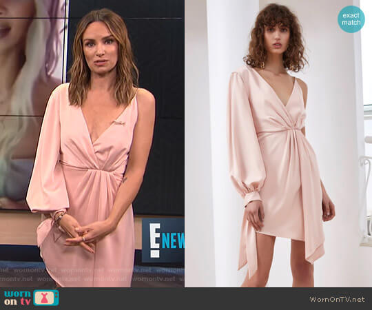 Eventual Dress by C/Meo Collective worn by Catt Sadler  on E! News