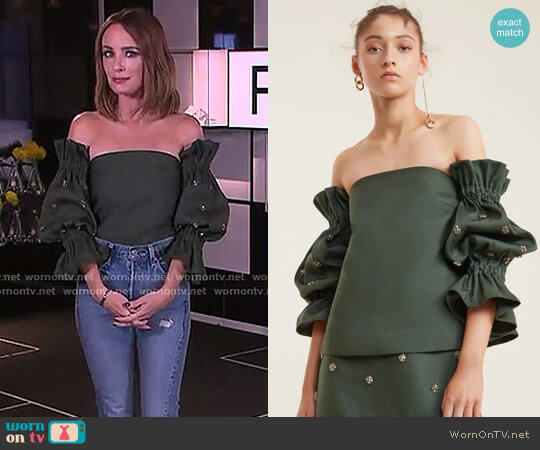 Assemble Top by C/Meo Collective worn by Catt Sadler  on E! News