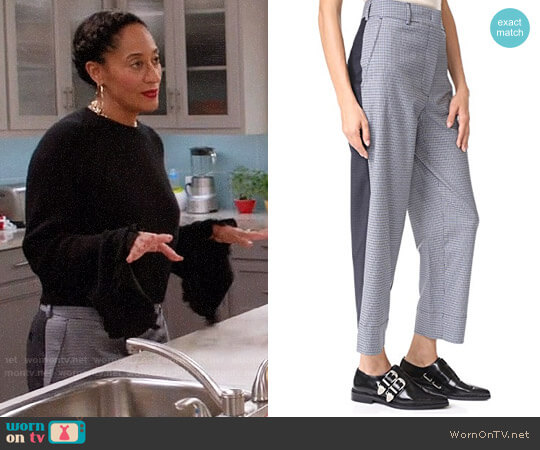Cedric Charlier Straight Leg Trousers worn by Tracee Ellis Ross on Blackish