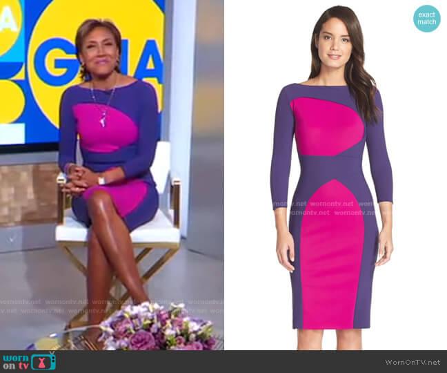 'Alessandra' Dress by Chiara Boni La Petite Robe worn by Robin Roberts  on Good Morning America