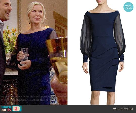 Chiara Boni La Petite Robe Nita Dress worn by Brooke Logan (Katherine Kelly Lang) on The Bold & the Beautiful