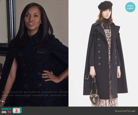Christian Dior Pre Fall 2017 Collection Cape Coat worn by Kerry Washington on Scandal