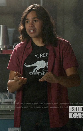 Cisco's T-Rex Hates Push-ups T-shirt on Supergirl