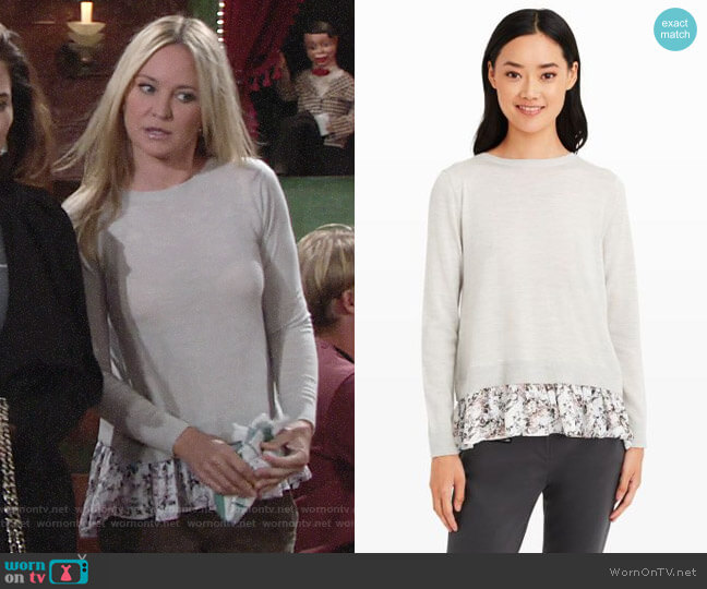 Club Monaco Arlietta Sweater worn by Sharon Collins (Sharon Case) on The Young & the Restless