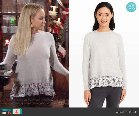 Club Monaco Arlietta Sweater worn by Sharon Case on The Young & the Restless