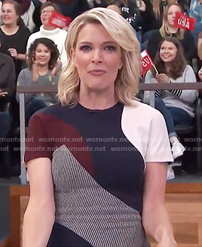 Megyn's colorblock sheath dress on Megyn Kelly Today