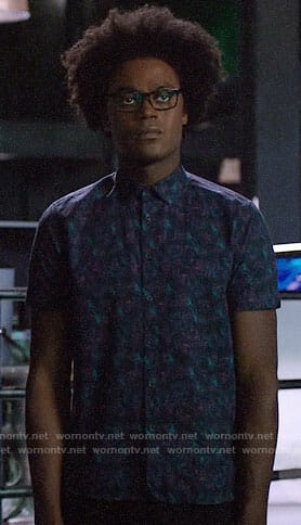 Curtis's purple printed shirt on Arrow