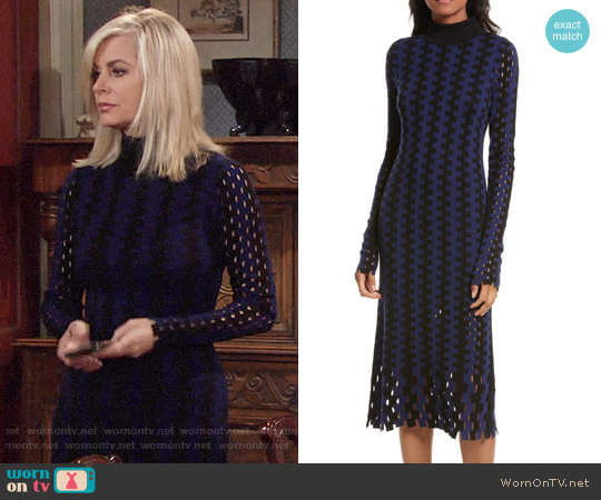 Diane von Furstenberg Turtleneck Merino Wool Midi Dress worn by Eileen Davidson on The Young & the Restless
