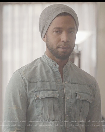 Jamal's distressed denim shirt on Empire