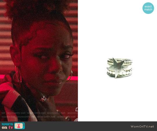 dk designs Rockstar Stacker Rings worn by Ashleigh Murray on Riverdale