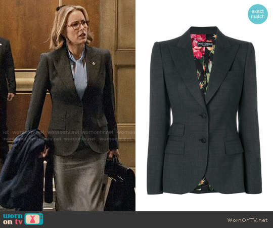 Dolce & Gabbana Fitted Blazer worn by Téa Leoni on Madam Secretary