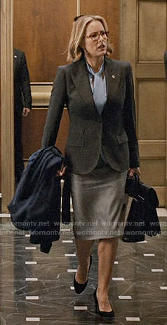 Elizabeth's dark grey blazer on Madam Secretary