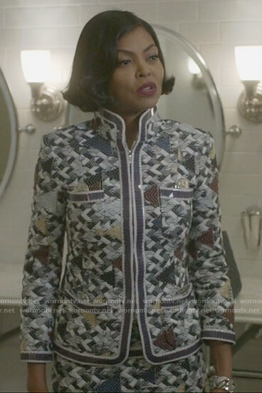 Cookie's embroidered pattern jacket and skirt on Empire