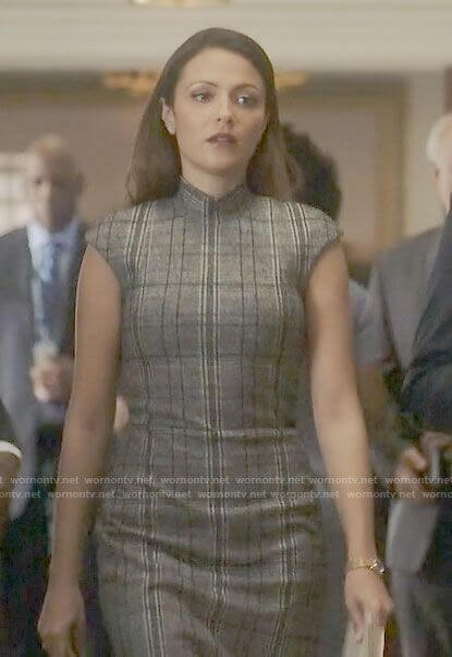 Emily's grey plaid dress on Designated Survivor