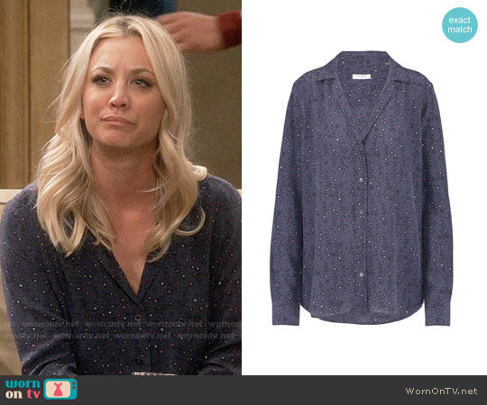 Equipment Adalyn Shirt worn by Kaley Cuoco on The Big Bang Theory