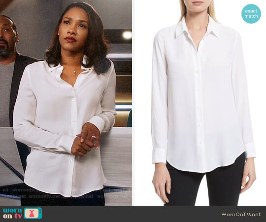 Equipment Essential Silk Shirt worn by Candice Patton on The Flash