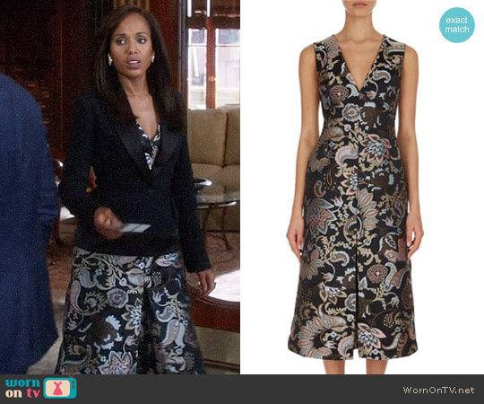Erdem Kamila Dress worn by Kerry Washington on Scandal