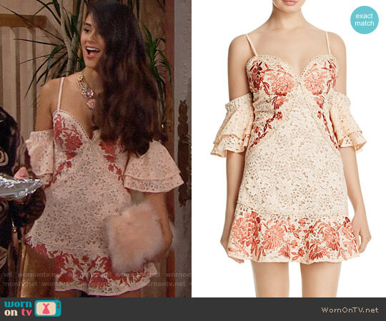 For Love & Lemons Matador Dress worn by Darlita (Danube Hermosillo) on The Bold & the Beautiful
