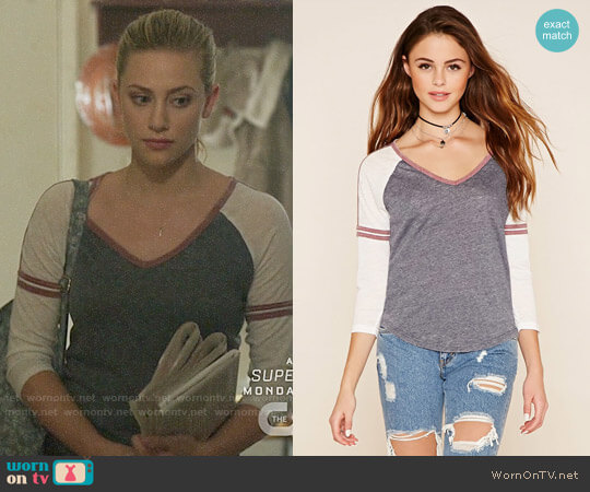 Forever 21 Colorblock Knit Top worn by Betty Cooper (Lili Reinhart) on Riverdale