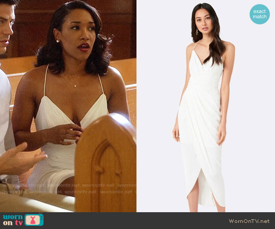 Forever New Charlotte Draped Maxi Dress worn by Candice Patton on The Flash