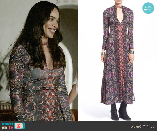 Free People 'Cabaret' Long Sleeve Maxi Dress worn by Cleopatra Coleman on Last Man On Earth