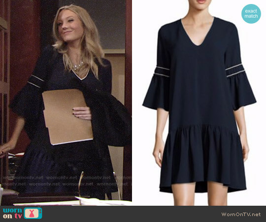 Ganni Clark Dress worn by Melissa Ordway on The Young & the Restless