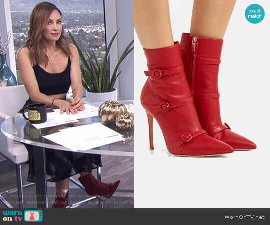 'Robin' Boots by Gianvito Rossi worn by Catt Sadler on E! News