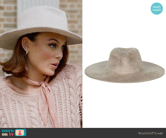 Gladys Tamez Millinery Gia Hat worn by Nathalie Kelley on Dynasty