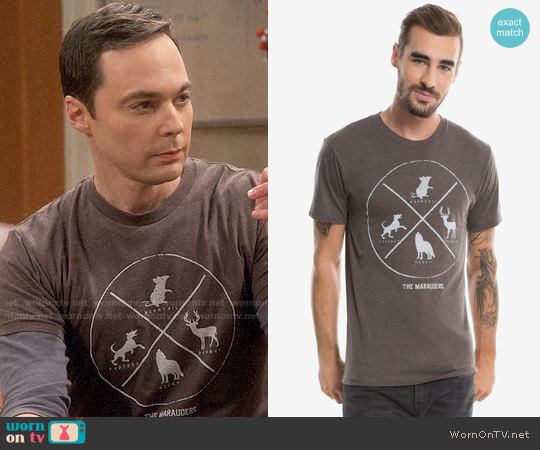 Harry Potter The Marauders T-Shirt worn by Sheldon Cooper (Jim Parsons) on The Big Bang Theory