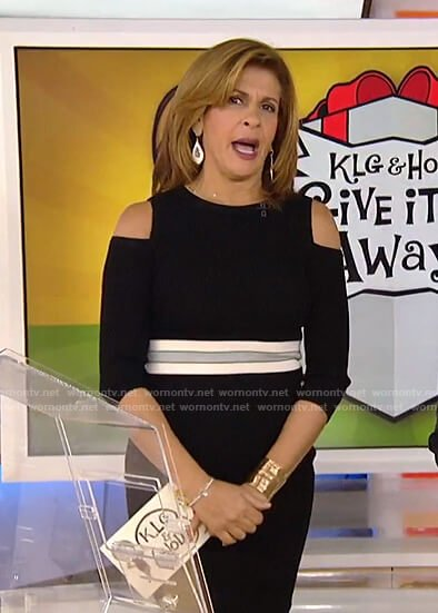 Hoda's black cold-shoulder dress on Today