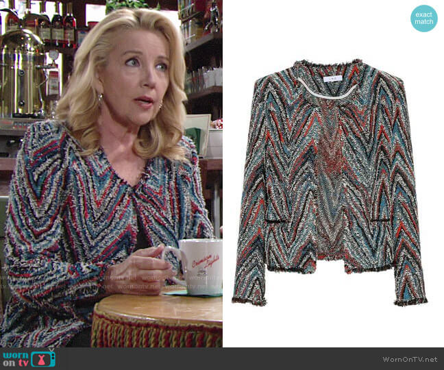 IRO Weird Tweed Blazer worn by Melody Thomas-Scott on The Young & the Restless