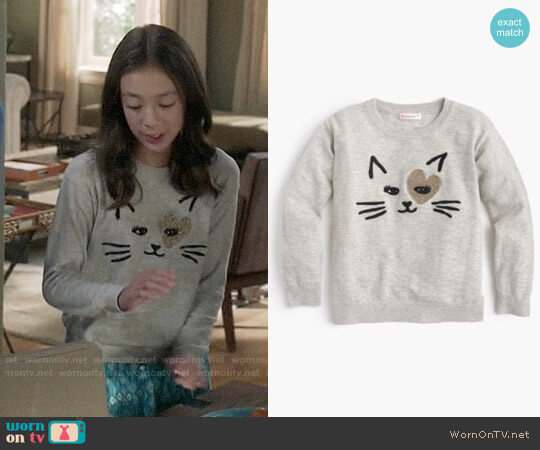 J. Crew Girls' Kitty Love Popover Sweater worn by Aubrey Anderson-Emmons on Modern Family