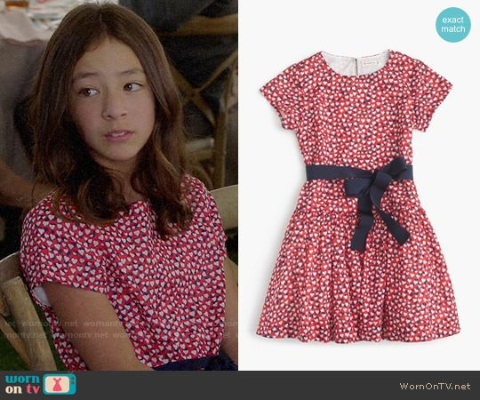 J. Crew Girls' Heart Print Dress worn by Aubrey Anderson-Emmons on Modern Family