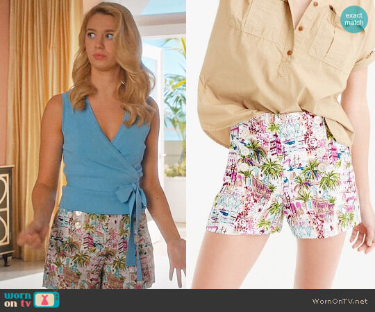 J. Crew Sailor Short in Harbor Print worn by Petra Solano (Yael Grobglas) on Jane the Virgin
