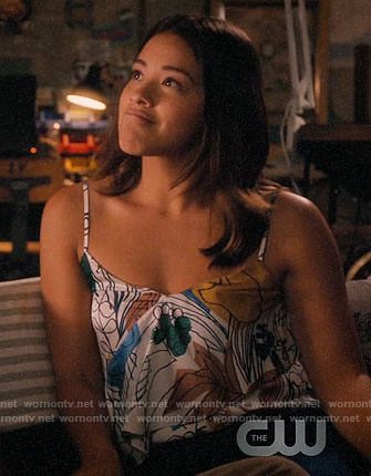 Jane's abstract floral print cami on Jane the Virgin