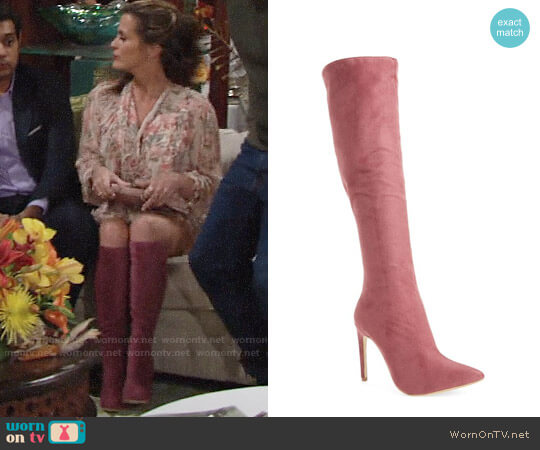 Jeffrey Campbell Jalouse Knee High Boot worn by Chelsea Lawson (Melissa Claire Egan) on The Young & the Restless